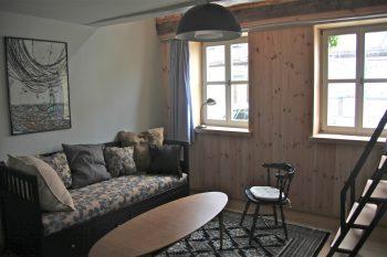 Das Wohnzimmer im Erdgeschoss