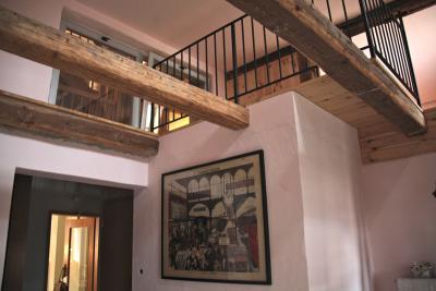Hochbettebene im Zwischengeschoss vom Erdgeschoss aus gesehen